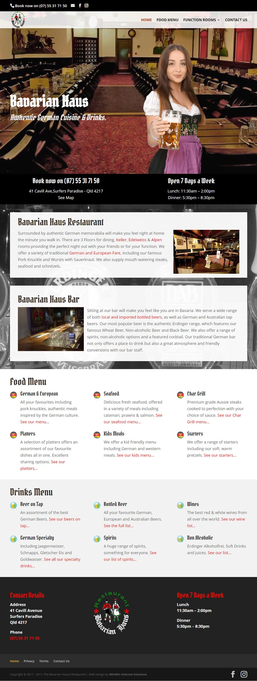 Bavarian Haus Website Build
