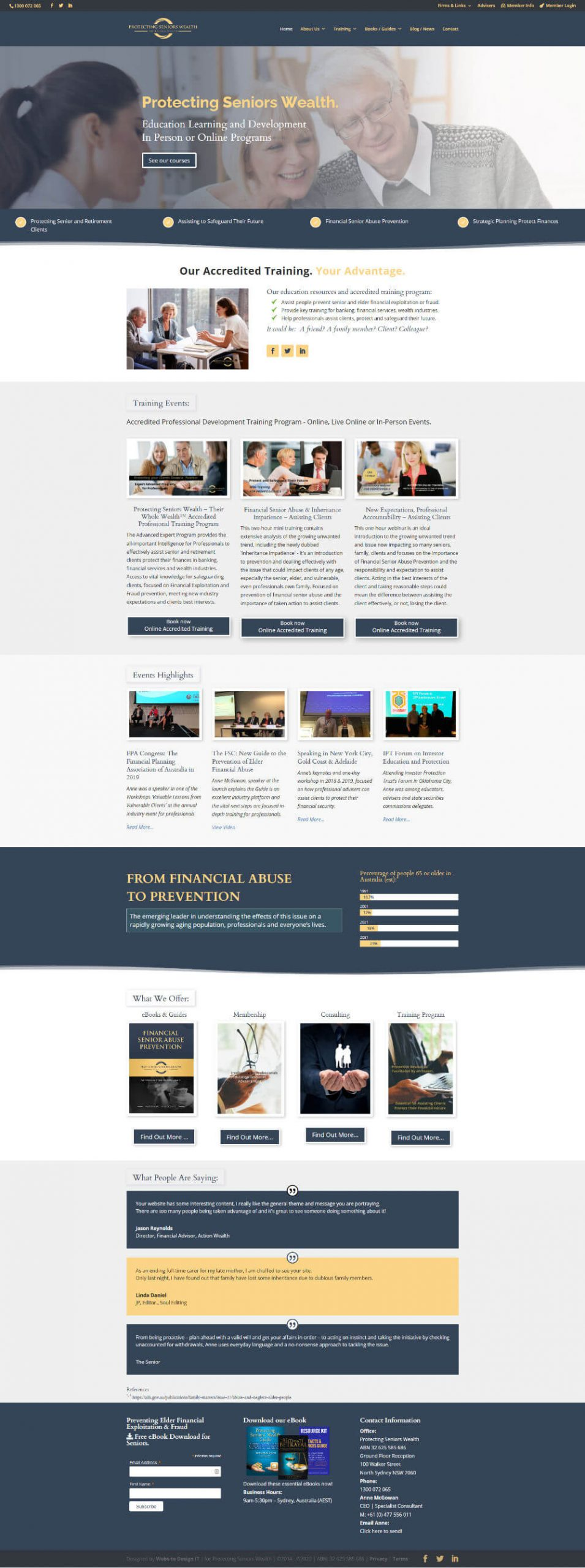 Protecting Seniors Wealth Web Design Project