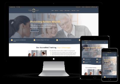 Protecting Seniors Wealth Website design Mockup