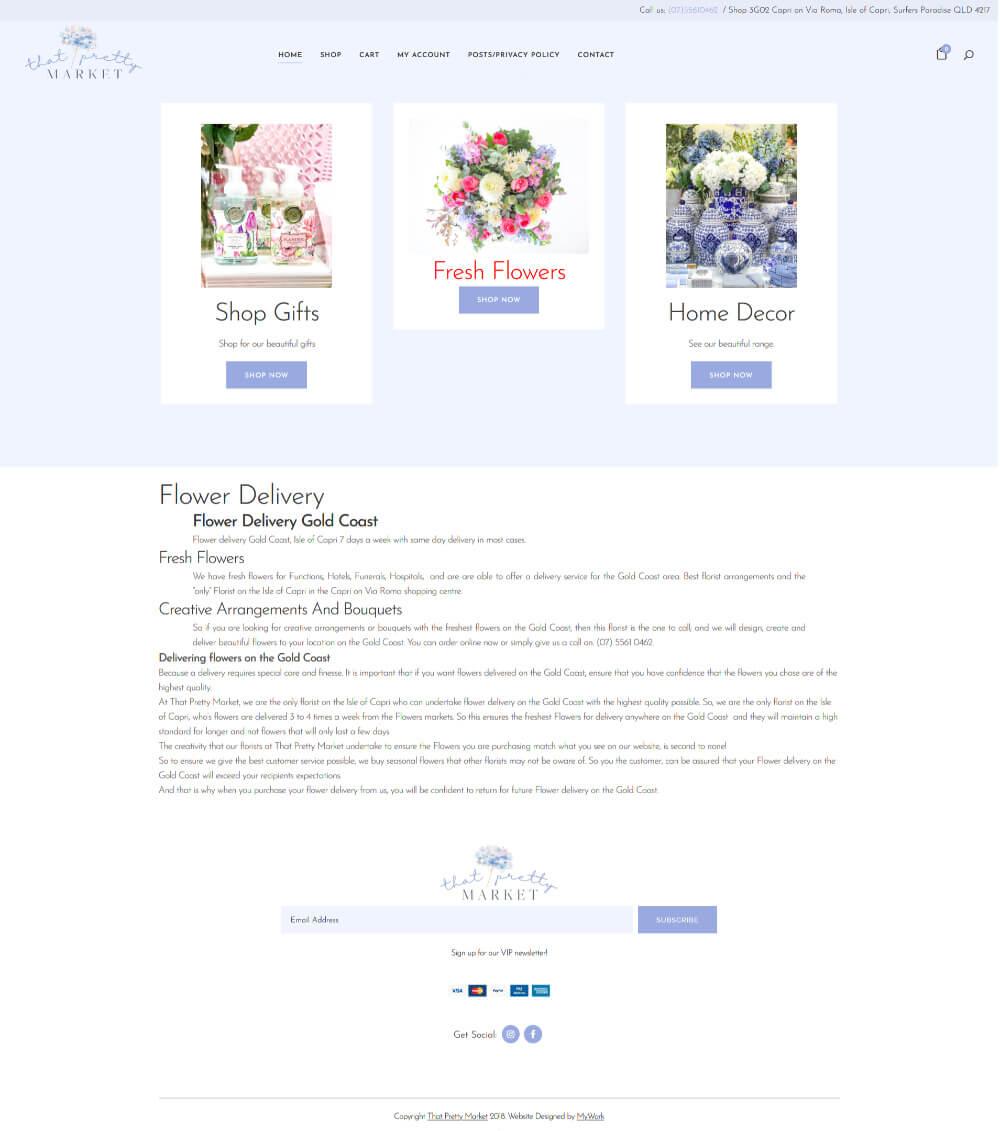 That Pretty Market website Before