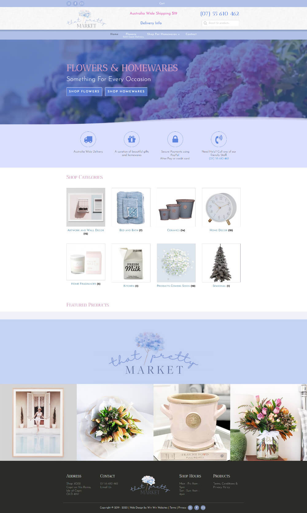 That Pretty Market eCommerce Web Design project